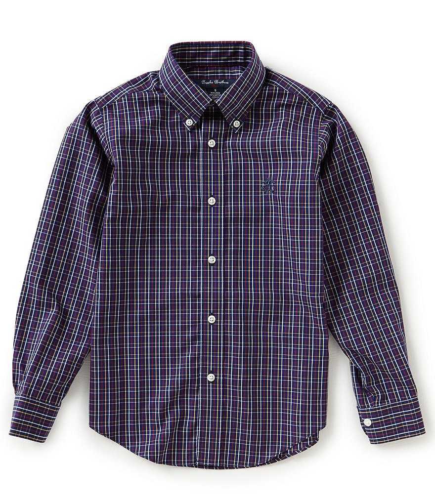 Brooks Brothers Little/Big Boys 4-20 Windowpane Button Front Shirt