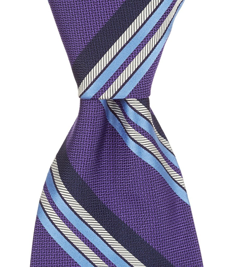 Brooks Brothers Multi-Textured Stripe Traditional Silk Tie