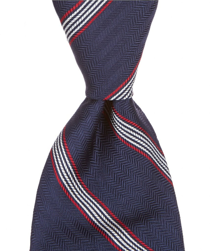 Brooks Brothers Music Stripe Traditional Woven Silk Tie