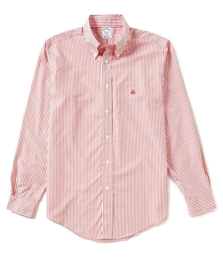 Brooks Brothers Regent-Fit Bengal Stripe Long-Sleeve Woven Shirt