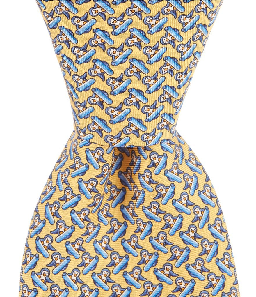 Brooks Brothers Snowboard Print Traditional Silk Tie