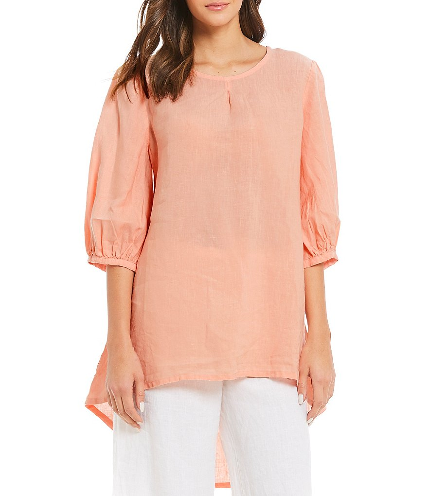 Bryn Walker Lucien Gathered Balloon Sleeve Hi-Low Tunic
