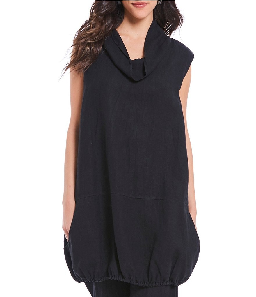 Bryn Walker Riley Cowl Neck Sleeveless Tunic