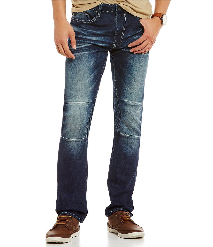 Buffalo David Bitton Ash-x Slim Fit Moto Jeans