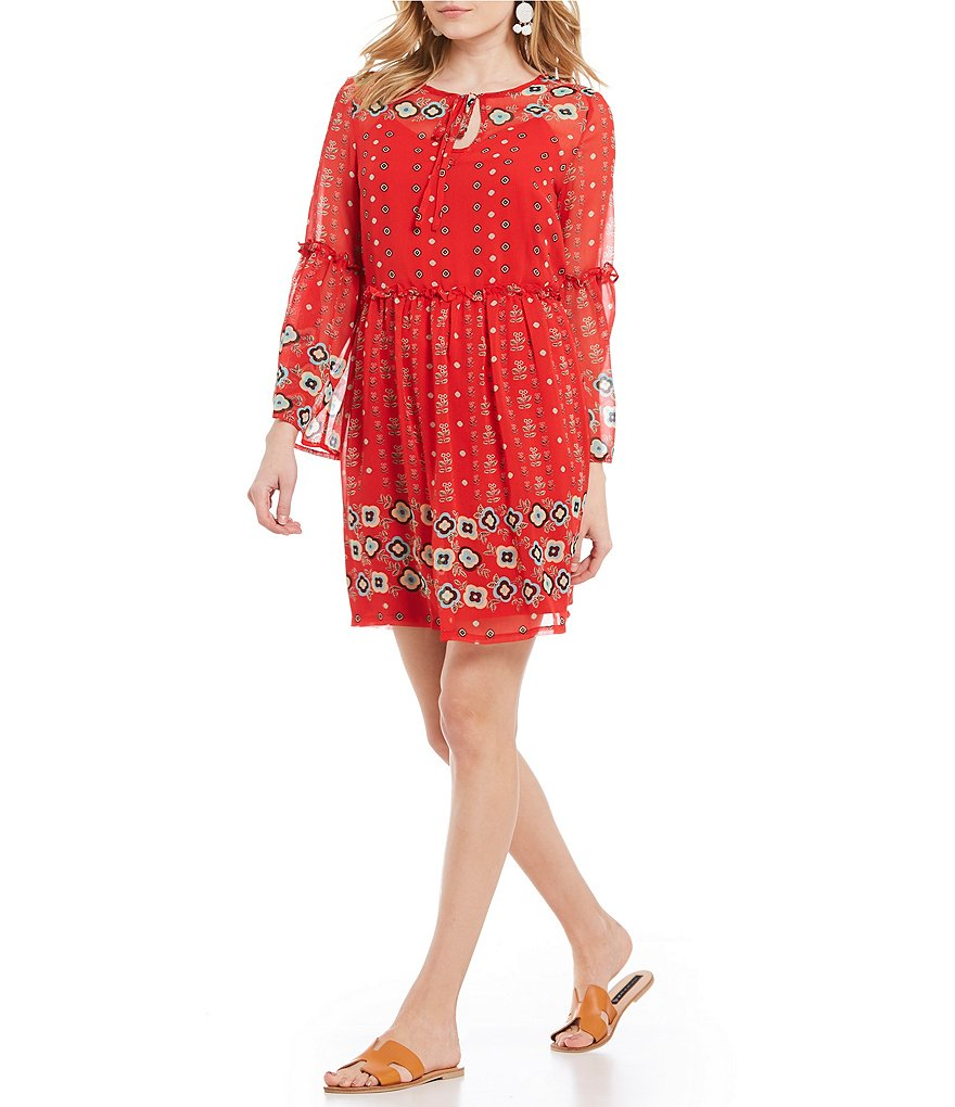 Buffalo David Bitton Floral Print Peasant Dress