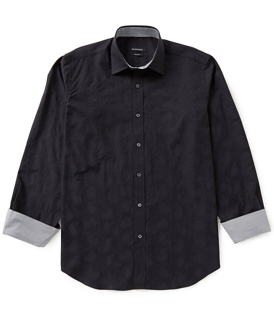 Bugatchi Long-Sleeve Solid Woven Shirt