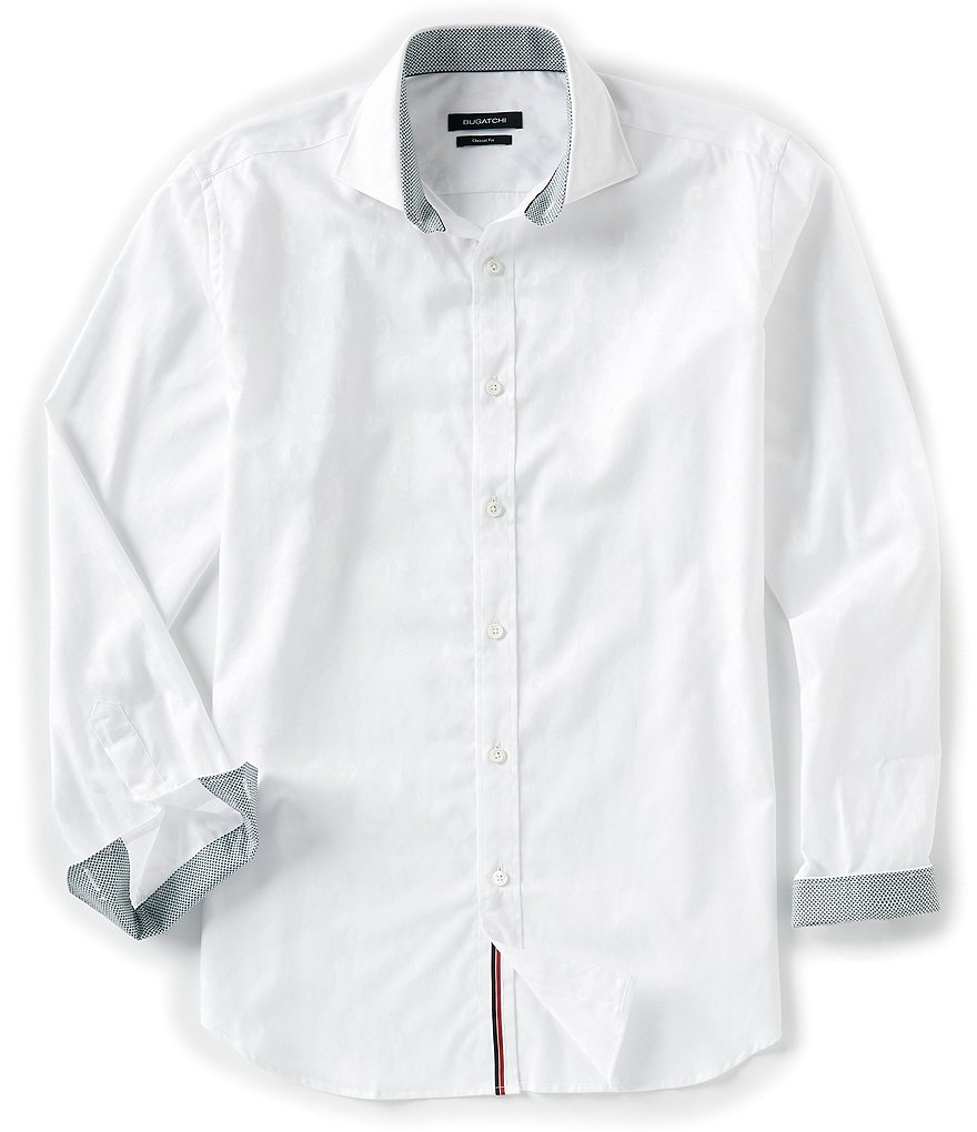 Bugatchi Tonal Long-Sleeve Woven Shirt