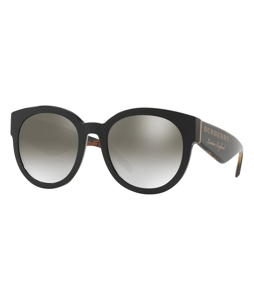 Burberry Mirrored Round Sunglasses