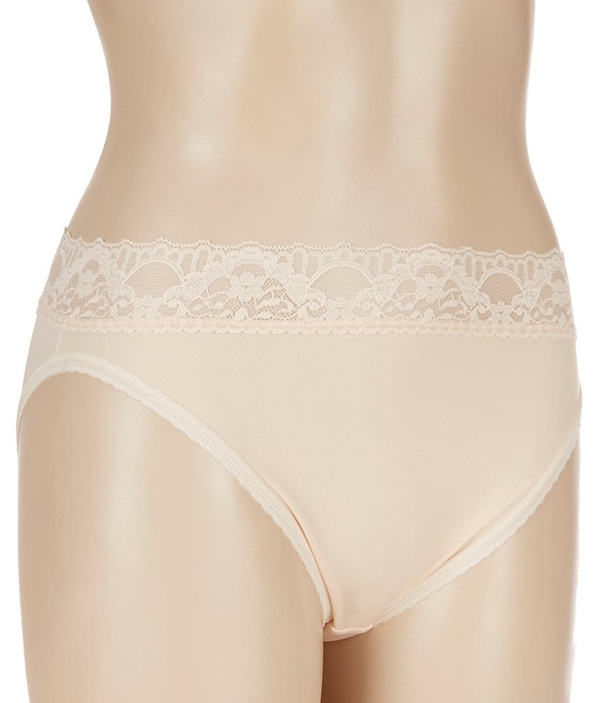 Cabernet Seamed To Fit Stretch Hi-Cut Lace Brief Panty
