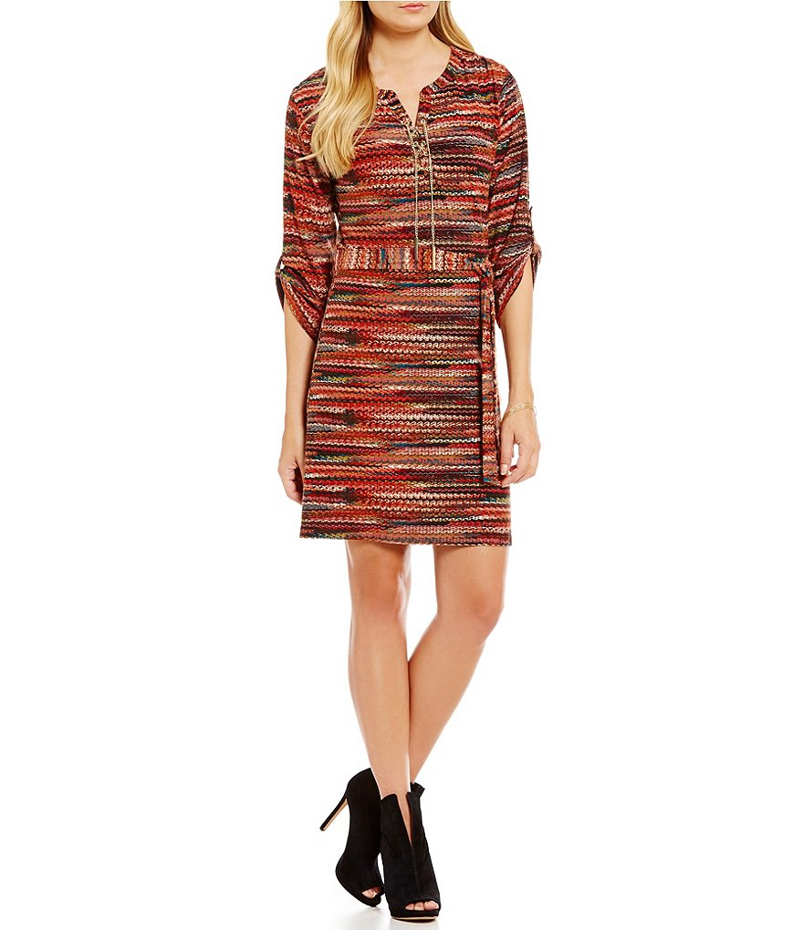 Calessa Geometric Print Dress