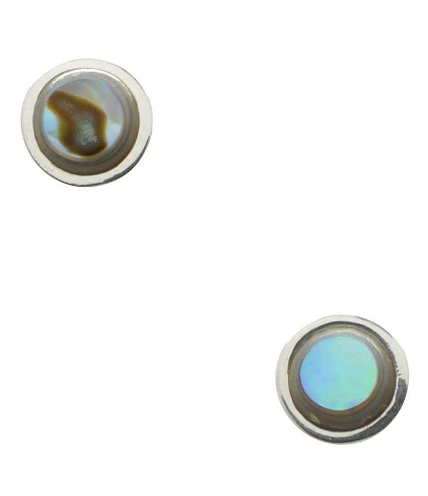 Calvary Sterling Silver Abalone Stud Earrings