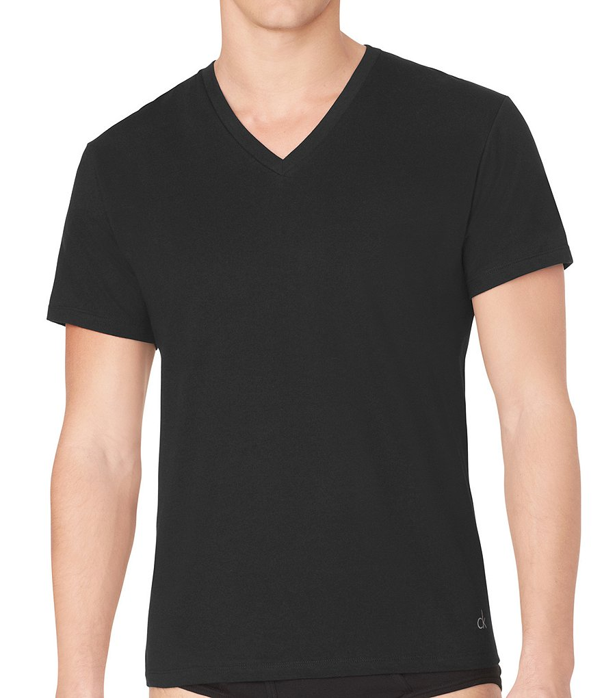 Calvin Klein Big & Tall Cotton Classic V-Neck Tees 2-Pack