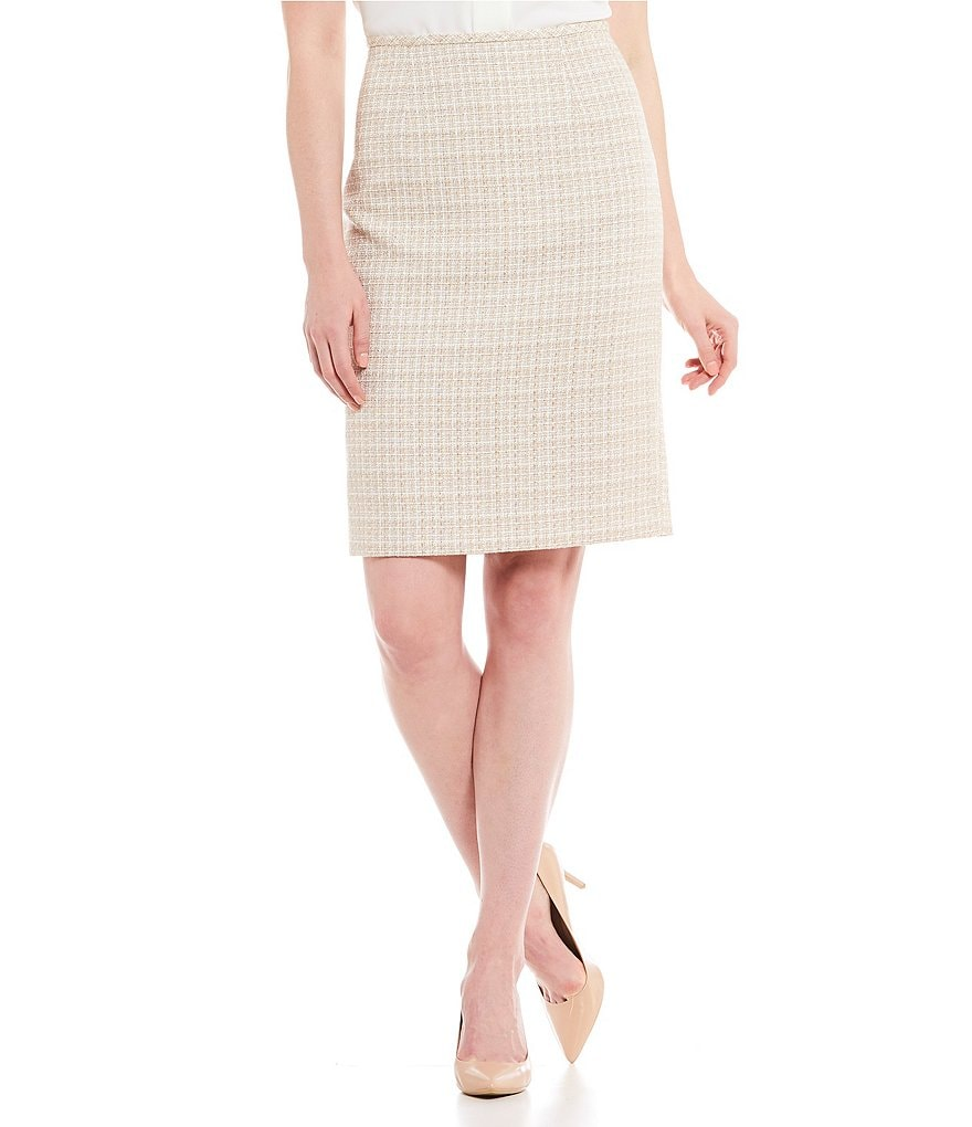 Calvin Klein Boucle Tweed Pencil Skirt