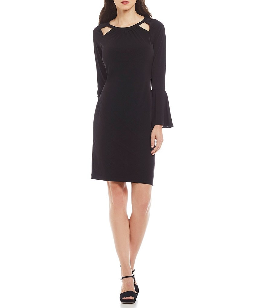 Calvin Klein Cut-Out Bell-Sleeve Dress