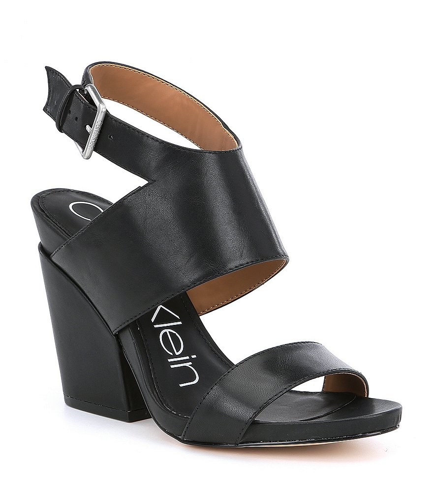 Calvin Klein Emmett Block Heel Dress Sandals