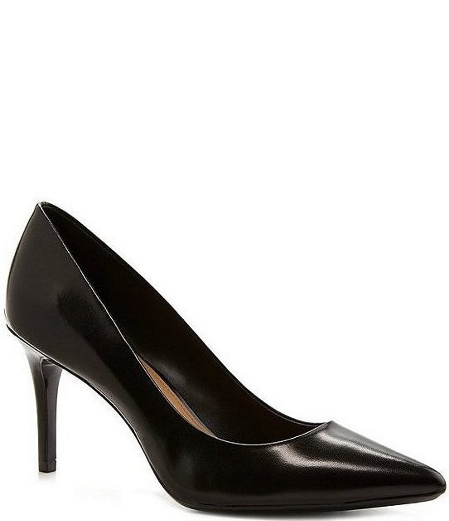 Calvin Klein Gayle Patent Leather Pointed-Toe Pumps BXaoqd