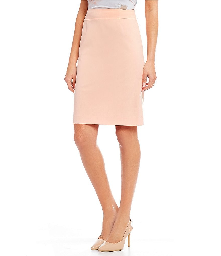 Calvin Klein Lux Stretch Suiting Pencil Skirt
