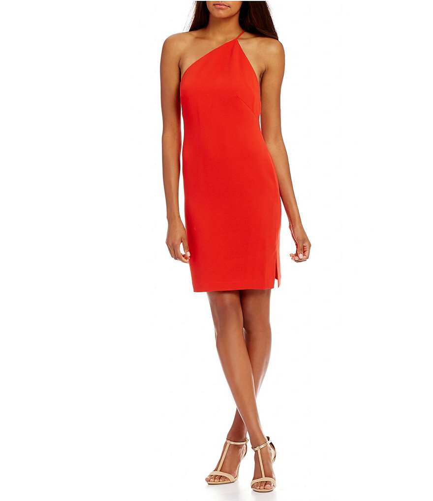 Calvin Klein One-Shoulder Sheath Dress