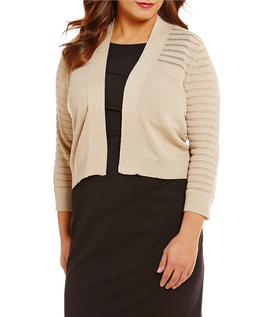 Calvin Klein Plus 3/4 Sleeve Lurex Shrug