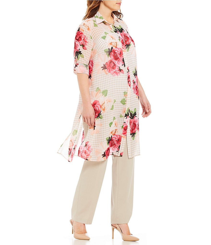 Calvin Klein Plus Printed Long Tunic Top