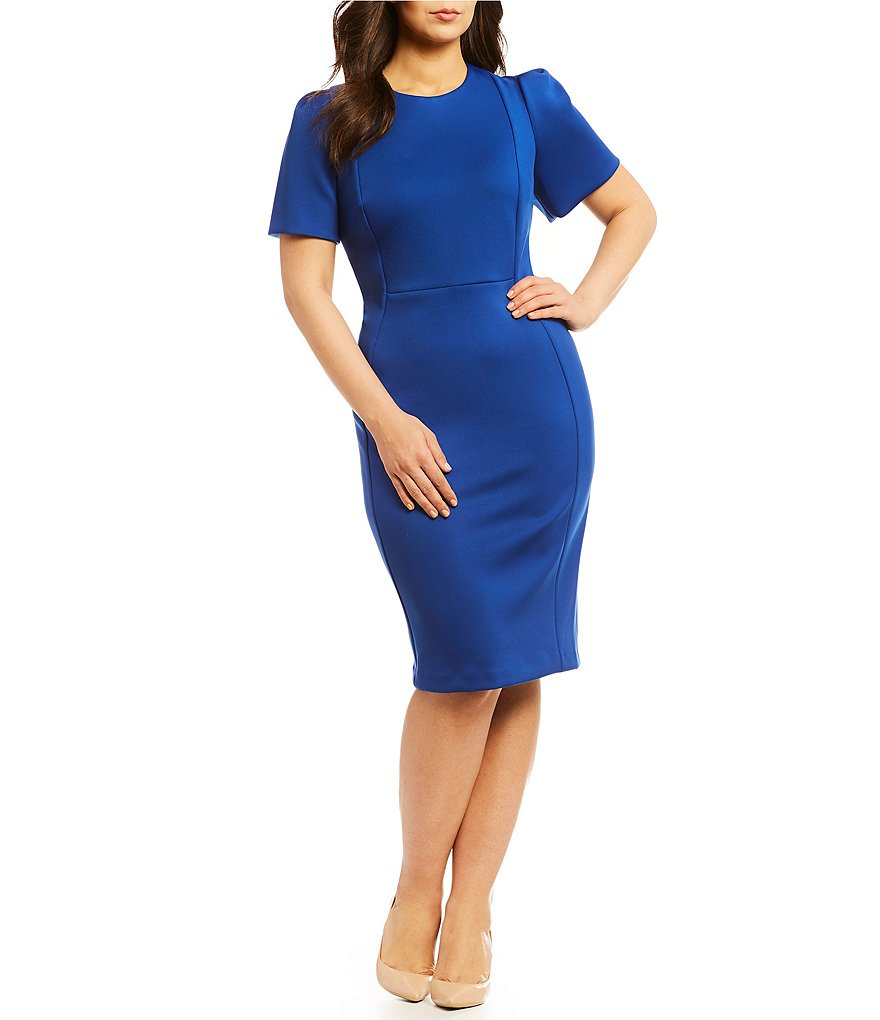 Calvin Klein Plus Solid Sheath Dress
