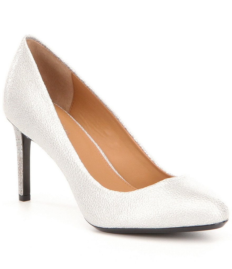 Calvin Klein Salsha Glossy Leather Pumps