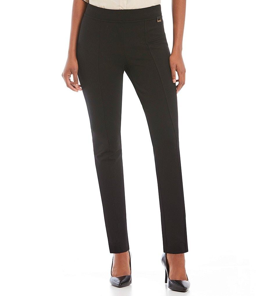 Calvin Klein Slim Leg Ponte Pants Dillards
