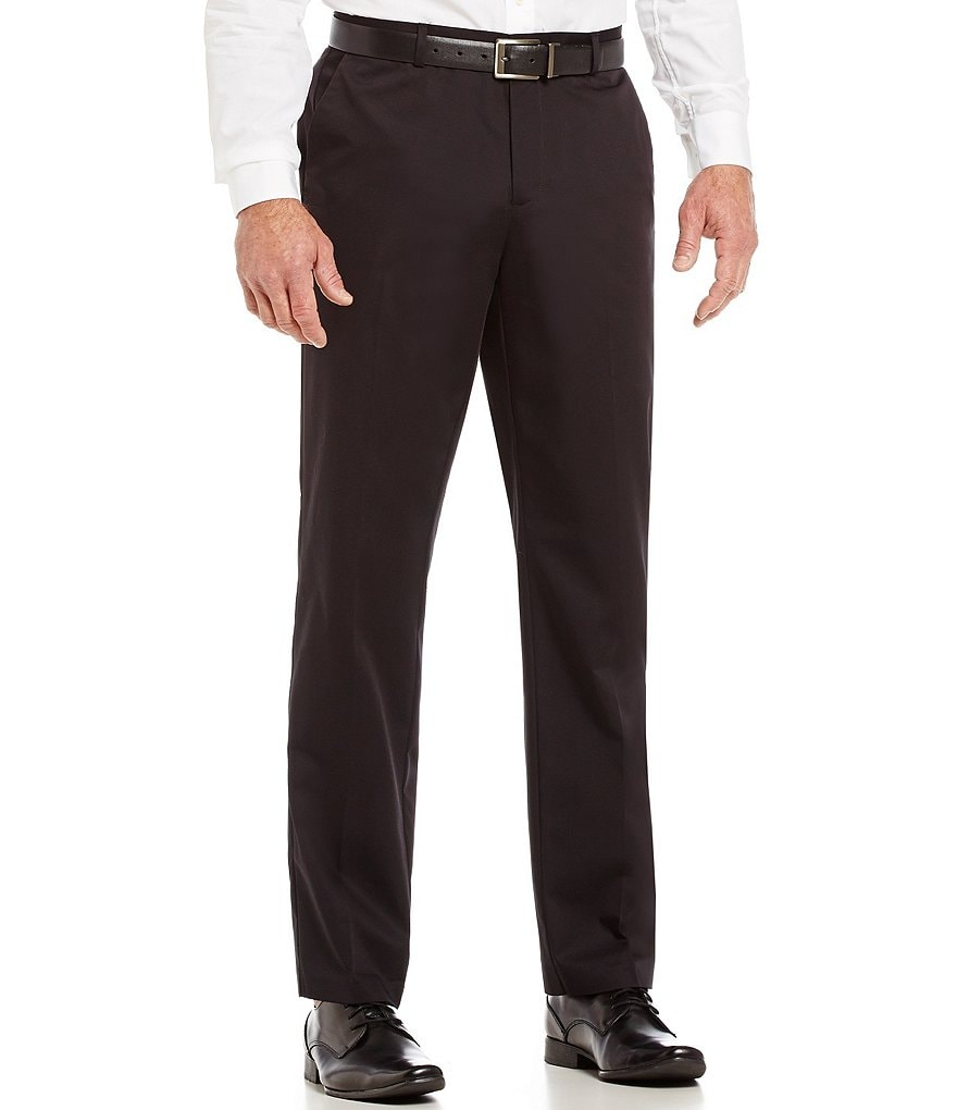 Calvin Klein Slim-Fit Flat-Front Twill Pants