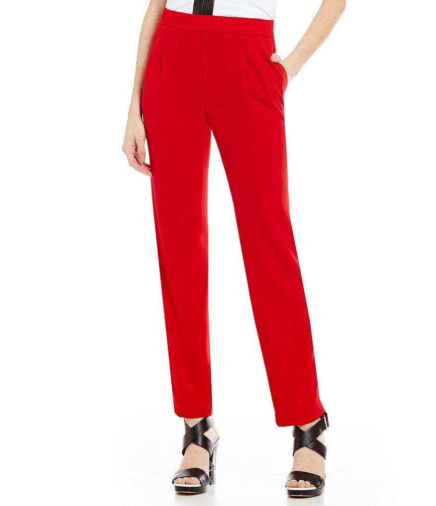 Calvin Klein Soft Suiting Pull-On Pants