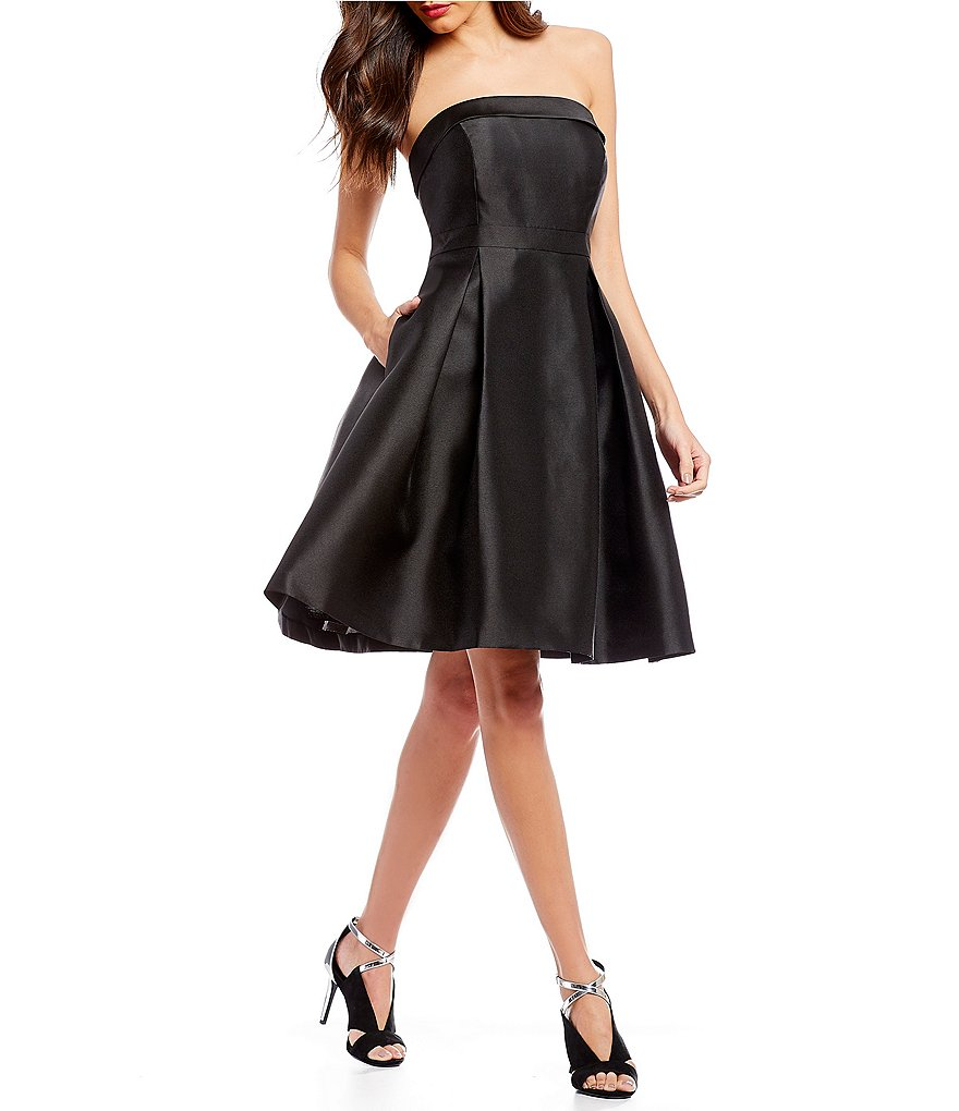 Calvin Klein Strapless Fit and Flare Party Dress