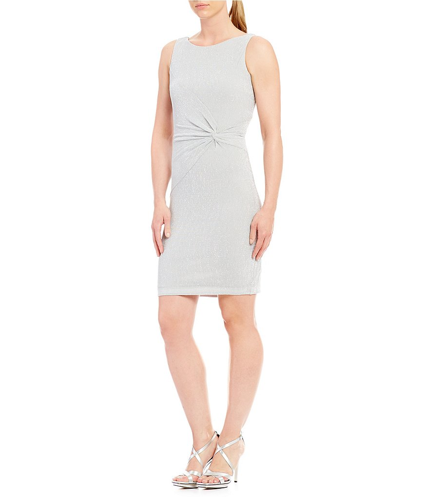 Calvin Klein Twist Sparkle Knit Dress