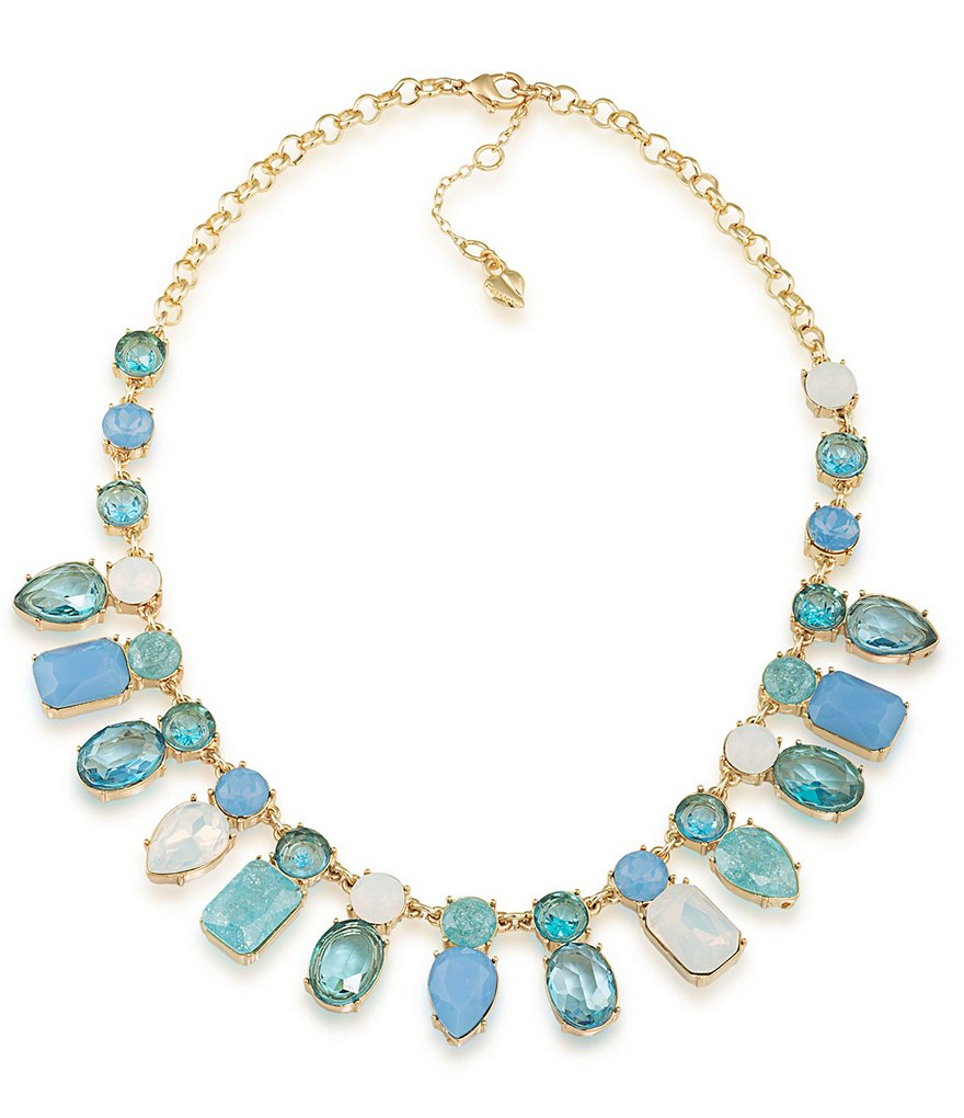 Carolee Crackled Stones Frontal Necklace