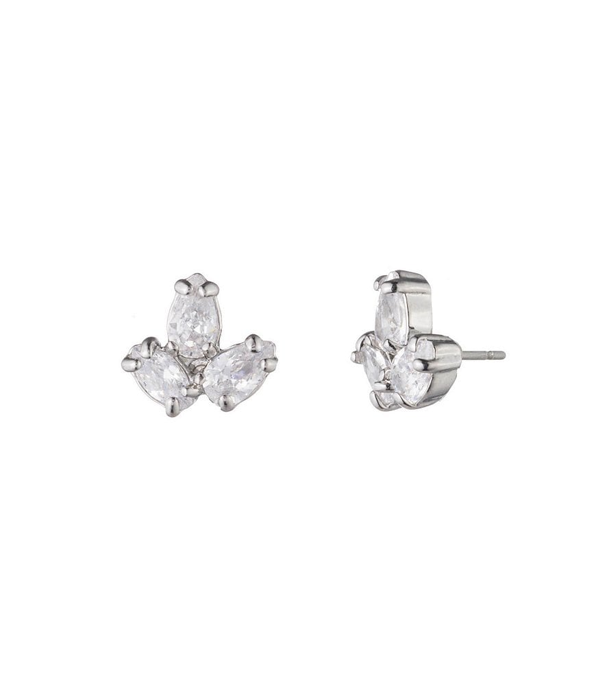 Carolee Holiday Fling 3 in 1 CZ Small Stud Statement Earrings