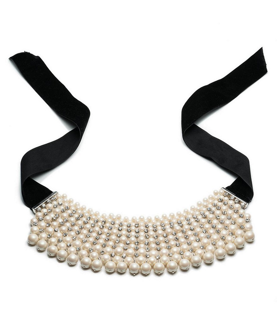 Carolee Pearl Manor Faux-Pearl Choker Necklace