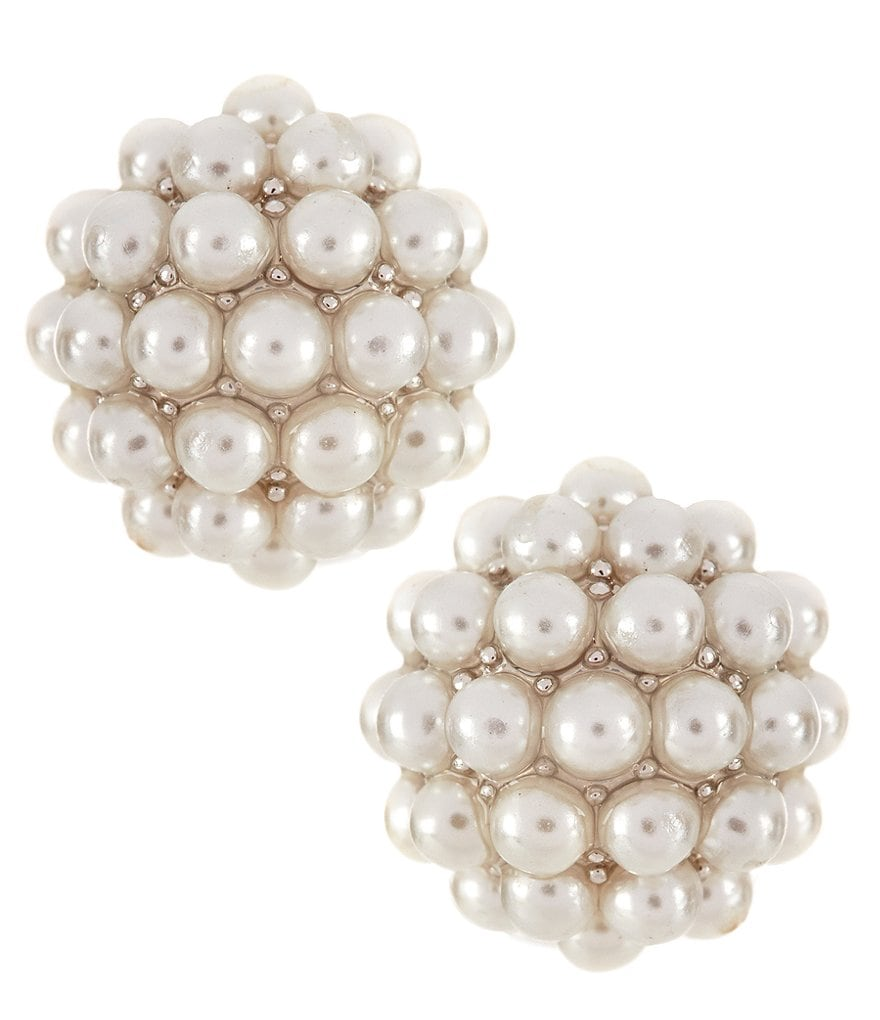 Carolee Pearl Premier Faux-Pearl Stud Earrings