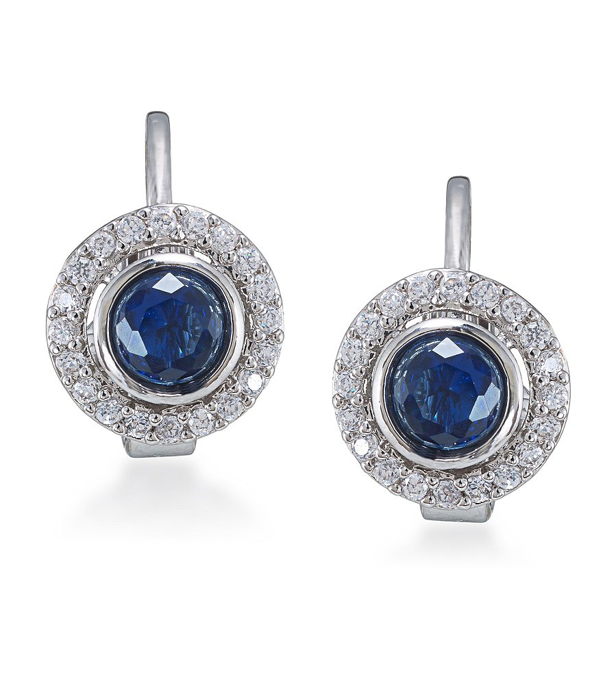 Carolee Round Button Crystal Clip On Earrings