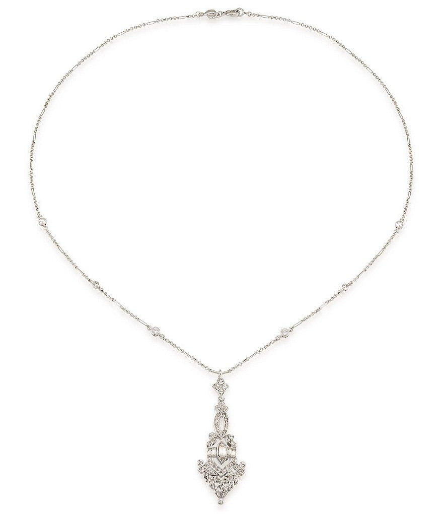 Carolee Wall Street Crystal Pendant Necklace