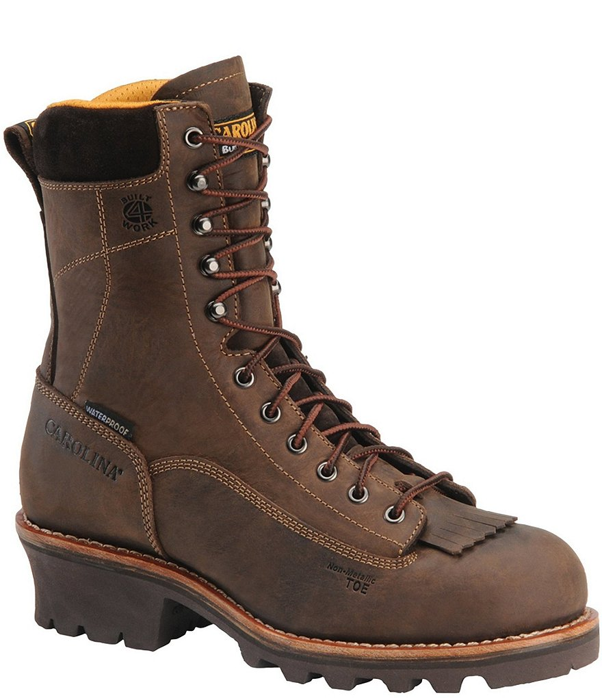 Carolina Men's Birch Waterproof Composite Toe Logger Work Boots