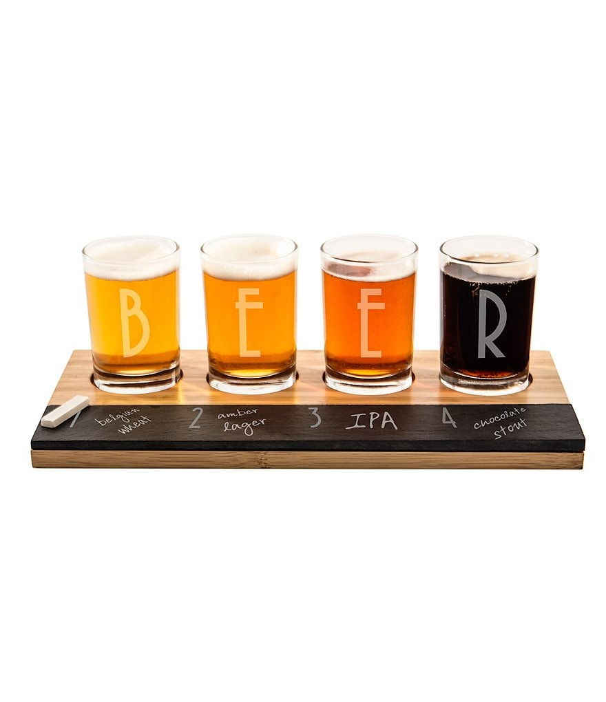 Cathy's Concepts Bamboo & Slate Craft Beer Tasting Flight