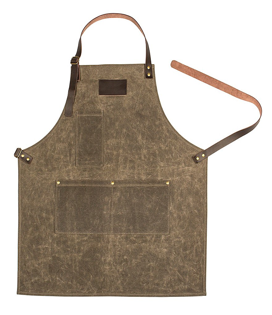Cathy's Concepts Initial Wet Waxed Canvas Apron