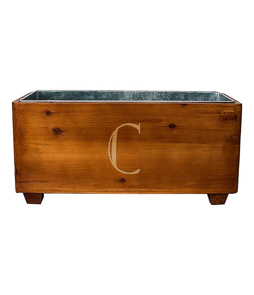Cathy's Concepts Initial Wooden Wine Trough