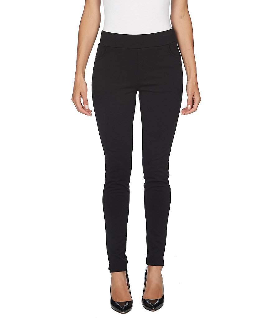 CeCe Ankle Slit Straight Ponte Leggings
