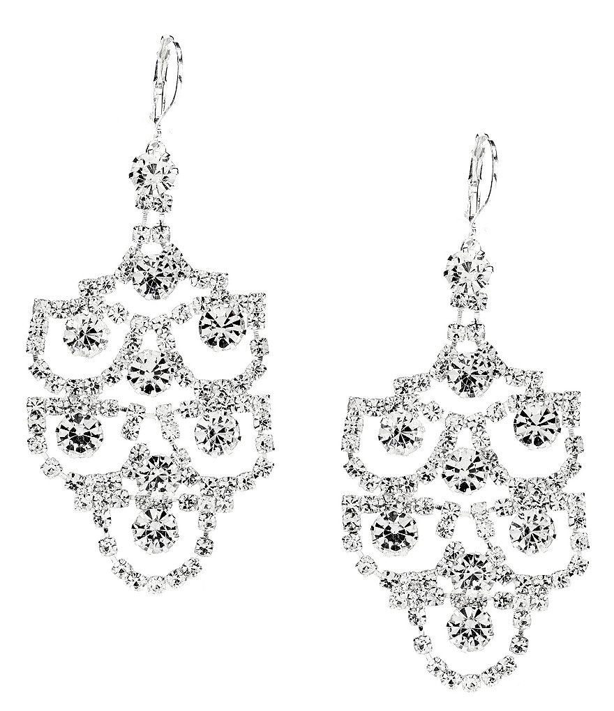 Cezanne Chandelier Shield Statement Earrings