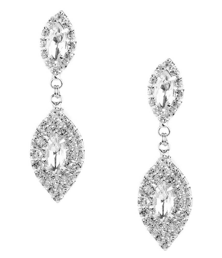Cezanne Clip-On Rhinestone Statement Earrings