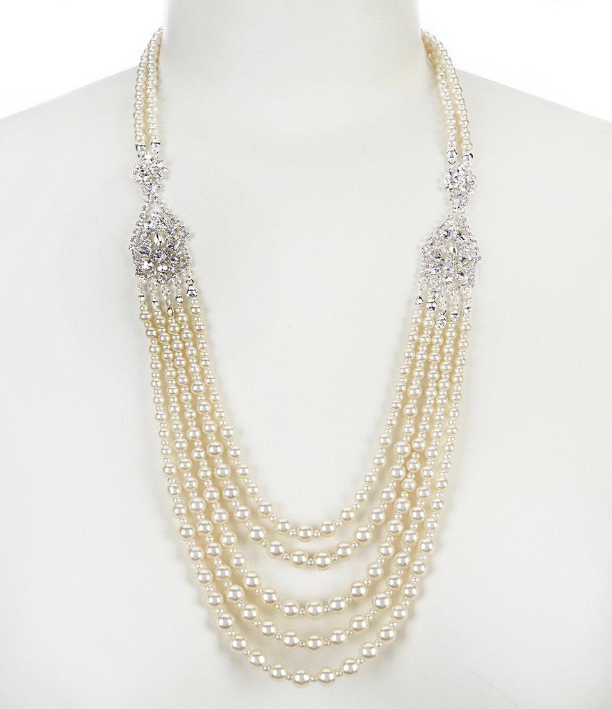 Cezanne Deco Pearl Statement Necklace