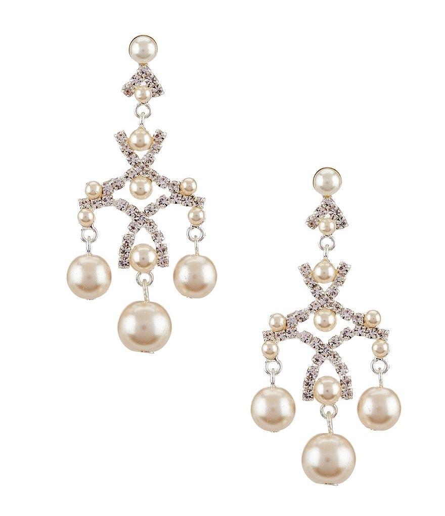 Faux pearl chandelier earrings fallcreekonline cezanne faux pearl chandelier earrings dillards arubaitofo Gallery