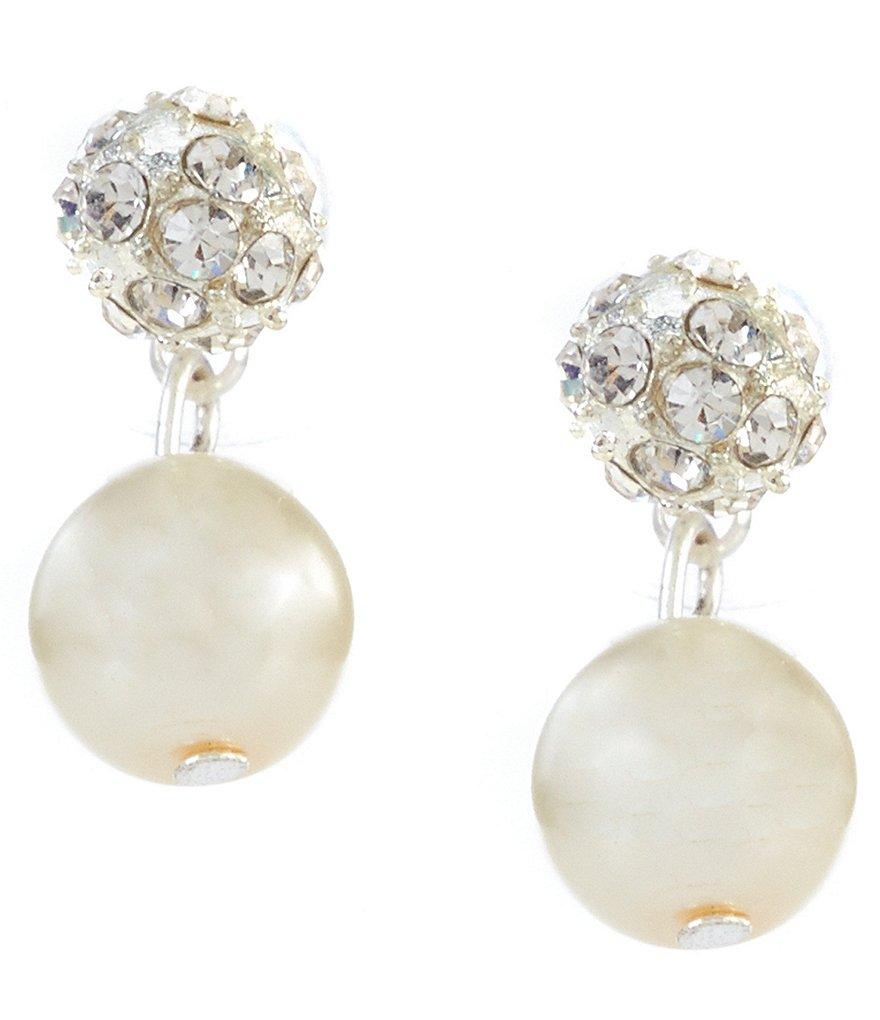 Cezanne Fireball Pearl Drop Earrings
