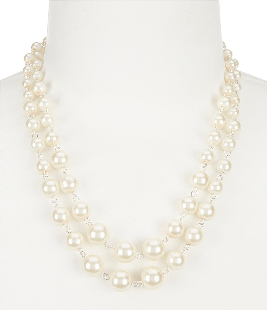 Cezanne Linked Faux-Pearl Multi-Strand Necklace