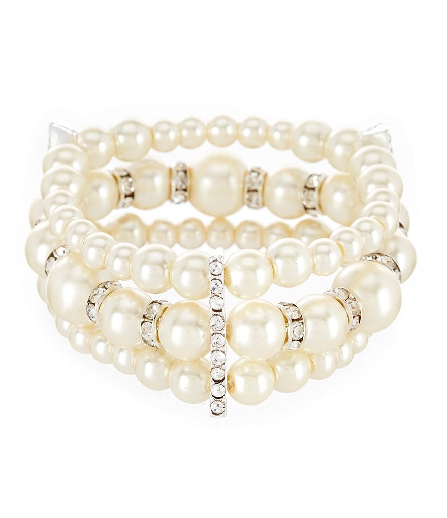 Cezanne Pearl Mix Stretch Bracelet