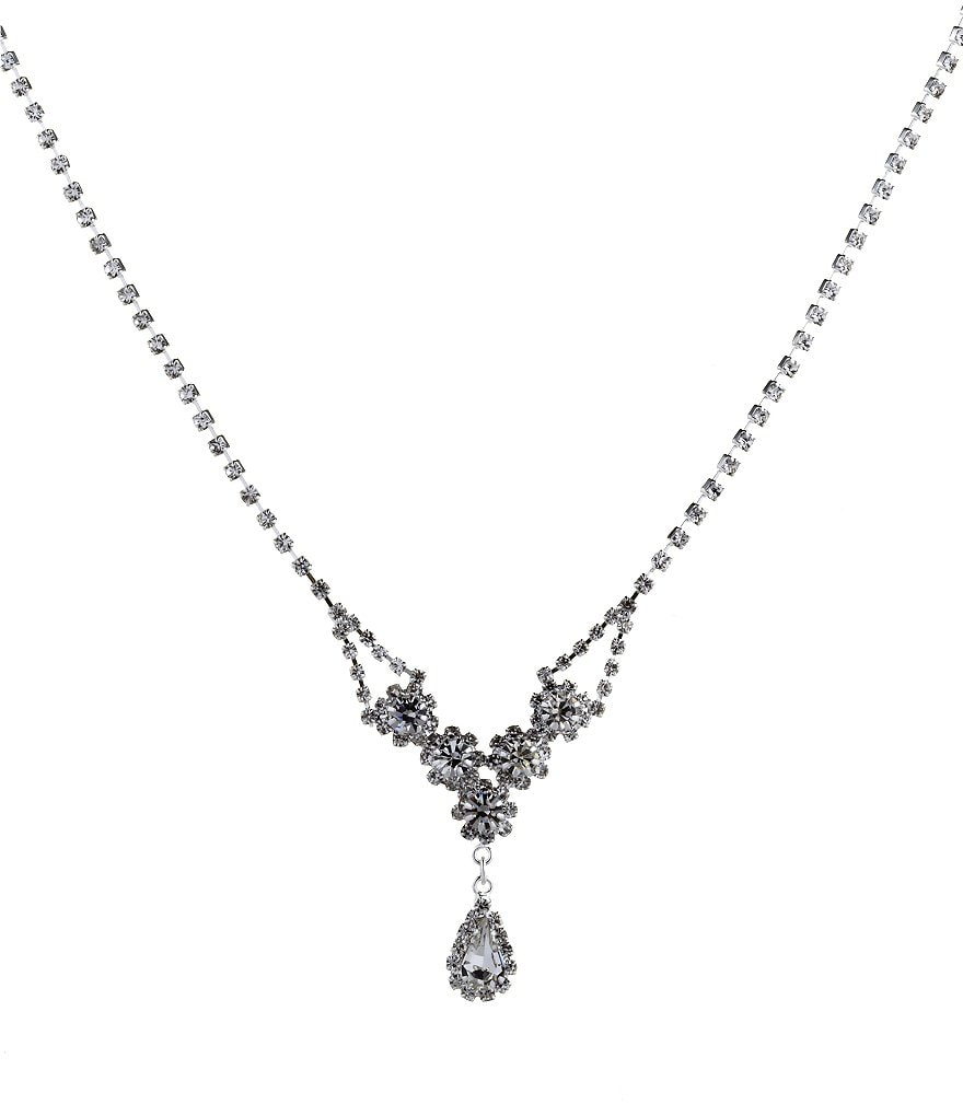 Cezanne Rhinestone Teardrop Necklace